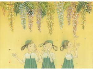 星の花(絹本着彩 F4号)2017